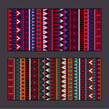 Tribal ethnic background set. Abstract vector tribal ethnic banners background set Royalty Free Stock Photo