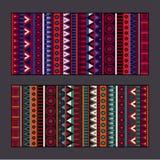 Tribal ethnic background set Royalty Free Stock Photo