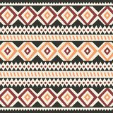 Tribal ethnic colorful bohemian pattern with geometric elements, African mud cloth, tribal design Royalty Free Stock Photos