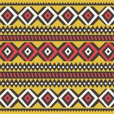 Tribal ethnic colorful bohemian pattern with geometric elements, African mud cloth, tribal design. Vector illustration Stock Photography