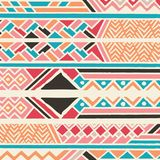 Tribal ethnic colorful bohemian pattern with geometric elements, African mud cloth, tribal design. Vector illustration Royalty Free Stock Image