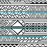 Tribal ethnic colorful bohemian pattern with geometric elements, African mud cloth, tribal design. Vector illustration Stock Image