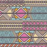 Tribal ethnic colorful bohemian pattern with geometric elements, African mud cloth, tribal design. Vector illustration Royalty Free Stock Images