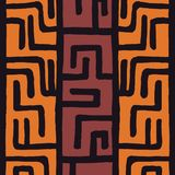 Tribal ethnic colorful bohemian pattern with geometric elements, African mud cloth, tribal design. Vector illustration Royalty Free Stock Photo