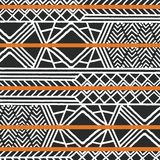 Tribal ethnic colorful bohemian pattern with geometric elements, African mud cloth, tribal design. Vector illustration Royalty Free Stock Photos