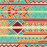 Tribal ethnic colorful bohemian pattern with geometric elements, African mud cloth, tribal design. Vector illustration Stock Photo