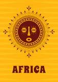 Tribal, ethnic, decorative, African mask. stock illustration