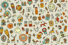Tribal ethnic elements, seamless pattern for your design Stock Photos