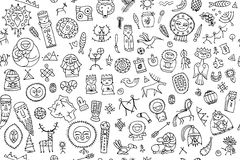 Tribal ethnic elements, seamless pattern for your design. Vector illustration Royalty Free Stock Photography