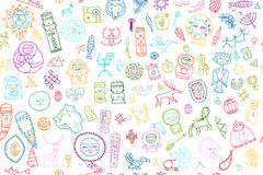 Tribal ethnic elements, seamless pattern for your design. Vector illustration Stock Image