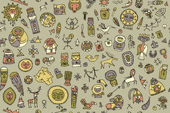 Tribal ethnic elements, seamless pattern for your design. Vector illustration Royalty Free Stock Photos