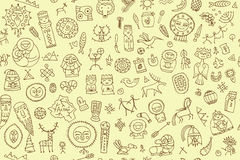 Tribal ethnic elements, seamless pattern for your design. Vector illustration Royalty Free Stock Images