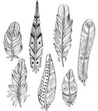 Tribal Ethnic Feathers Royalty Free Stock Photography