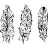 Tribal Ethnic Feathers Stock Image