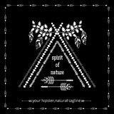 Tribal ethnic hipster logo Stock Images