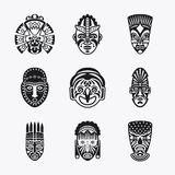 Tribal, ethnic mask icons Royalty Free Stock Images