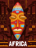 Tribal Ethnic Mask Template Stock Photography