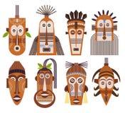 Tribal ethnic mask vector icons Stock Photo