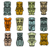 Tribal ethnic masks and totems Royalty Free Stock Image