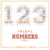 Tribal ethnic numbers for t-shirts, posters, card and other uses. Stock Image
