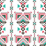 Tribal ethnic ornaments seamless indian style Royalty Free Stock Images