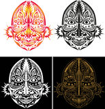Tribal ethnic religious mask stock illustration