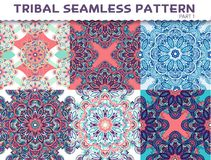 Tribal ethnic seamless pattern abstract background Stock Photo