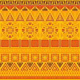 Tribal ethnic seamless pattern. Abstract geometric ornament with African motifs. Vector illustration. Perfect for textile print, wallpaper, cloth design Royalty Free Stock Photos
