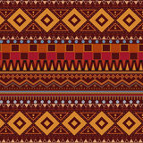 Tribal ethnic seamless pattern on brown background Royalty Free Stock Photos