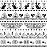 Tribal ethnic seamless pattern with Egypt symbols Royalty Free Stock Photography