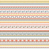 Tribal ethnic seamless pattern. On white background Royalty Free Stock Photo