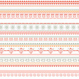 Tribal ethnic seamless pattern. On white background Royalty Free Stock Photography