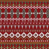 Tribal ethnic seamless stripe pattern on red background Stock Images