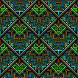 Tribal ethnic style zigzag vector seamless pattern. Ornamental geometric tiled rhombus background. Chevron ornaments. Aztec navajo mexican style decorative stock illustration