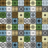 Tribal ethnic symbols background, seamless pattern Stock Photography