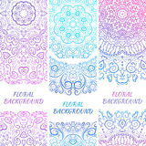 Tribal ethnic vintage banners. Illustration for Royalty Free Stock Photos