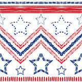 Tribal ethnic zig zag pattern. Vector illustration Stock Image
