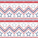 Tribal ethnic zig zag pattern. Vector illustration Stock Photography