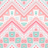 Tribal ethnic zig zag pattern. Vector illustration Royalty Free Stock Images