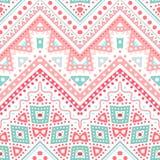 Tribal ethnic zig zag pattern. Vector illustration Royalty Free Stock Images