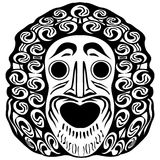 Tribal face Stock Photography