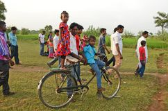 Tribal Festival in Puruliya District of West Bengal. This picture was taken at Chata Parab in Puruliya District of West Bengal. Chata Parab umbrella festival is stock images