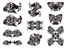 Tribal fish symbols Stock Photography