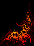 Tribal flames Royalty Free Stock Photos