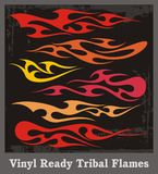 Tribal Flames Set. A set of tribal flames, great for vehicle graphics and t-shirt decals Stock Photo