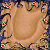 Tribal flower background illustration. This is a Tribal flower background illustration with drop shadow Royalty Free Stock Images
