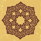 Tribal flower. Beautiful mandala in oriental style on grunge background Stock Photos