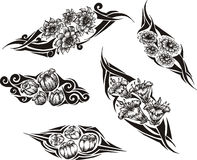 Tribal Flower Tattoos Royalty Free Stock Photos