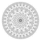 Tribal folk Aztec geometric pattern in circle - stroke Royalty Free Stock Photo