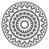 Tribal folk aztec geometric pattern in circle Stock Images